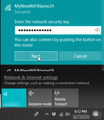 How to change your WiFi name (SSID) and password on your